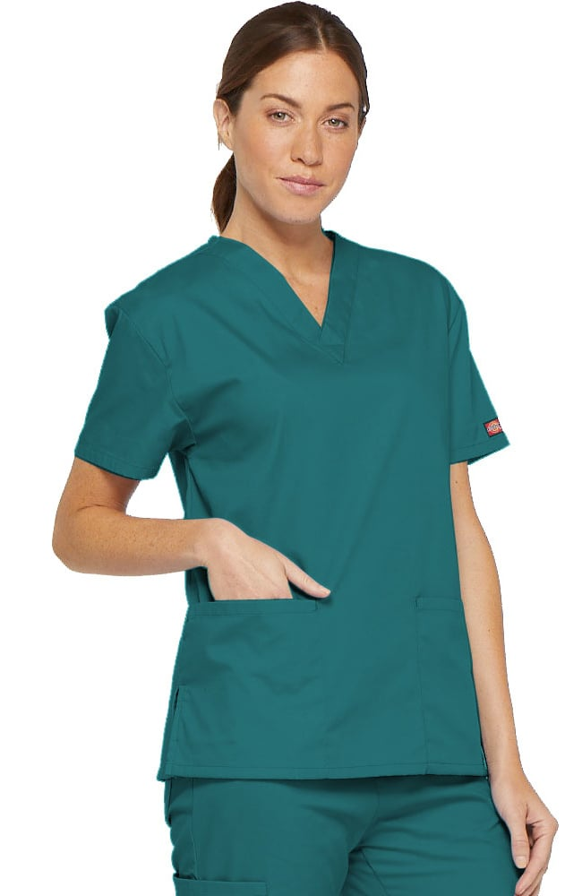 b553aa55fae Everyday Scrubs Signature by Dickies Women's V-Neck Solid Scrub Top