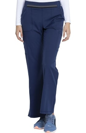 Clearance Dynamix by Dickies Women's Stripe Waistband Flare Leg Scrub Pant