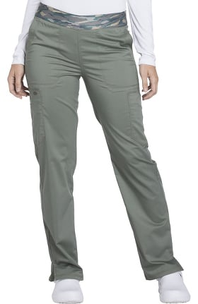 Clearance Essence by Dickies Women's Elastic Waistband Cargo Scrub Pant