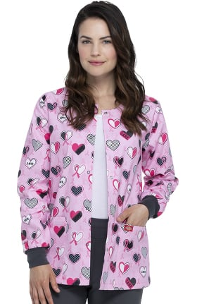 EDS Signature by Dickies Women's Actively Care Print Scrub Jacket