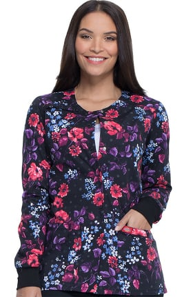 EDS Signature by Dickies Women's Blooming Twilight Print Scrub Jacket