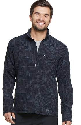 Fashion Prints by Dickies Men's Zip Front Abstract Print Warm-Up Scrub Jacket