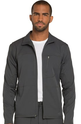 Dynamix by Dickies Men's Zip Front Warm-Up Solid Scrub Jacket