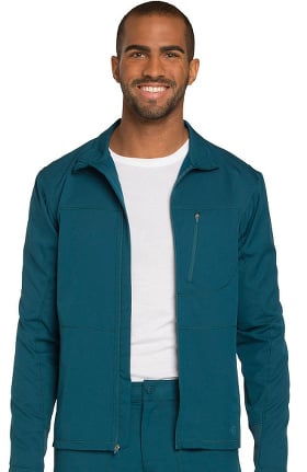 Clearance Dynamix by Dickies Men's Zip Front Warm-Up Solid Scrub Jacket