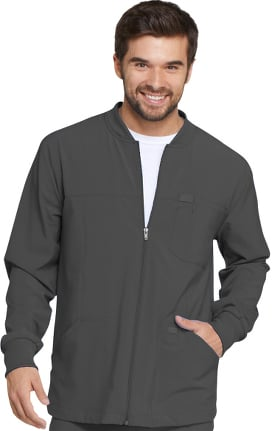 EDS Essentials by Dickies Men's Zip Front Warm-Up Solid Scrub Jacket