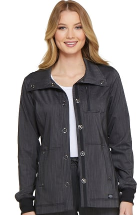 Clearance Advance by Dickies Women's Snap Front Solid Scrub Jacket