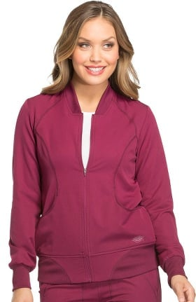 Dynamix by Dickies Women's Zip Front Warm-Up Solid Scrub Jacket