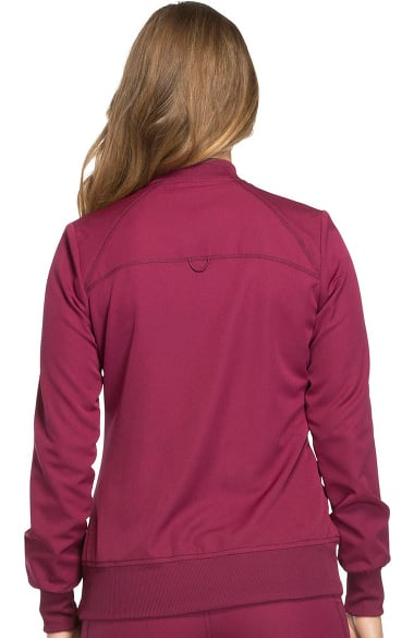 0e054f229c1 Dynamix by Dickies Women's Zip Front Warm-Up Solid Scrub Jacket ...