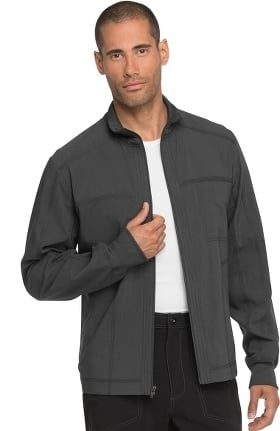 Advance by Dickies Men's Zip Front Solid Scrub Jacket