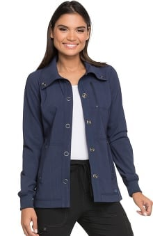 Advance by Dickies Women's Snap Front Solid Scrub Jacket