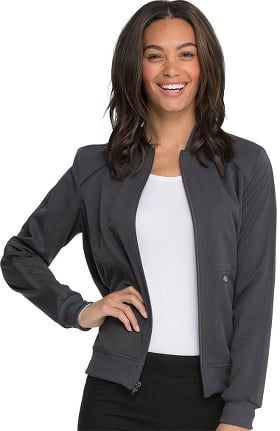 Balance by Dickies Women's Zip Front Solid Scrub Jacket