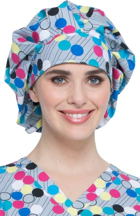 EDS Signature by Dickies Women's Bouffant Dots My Line Print Scrub Hat