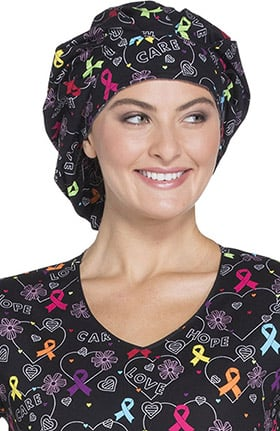 Fashion Prints by Dickies Unisex All Awareness Print Bouffant Scrub Hat