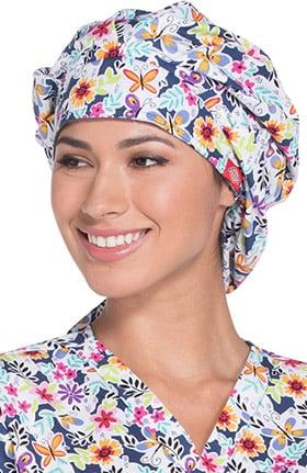 Fashion Prints by Dickies Unisex Floral Print Bouffant Scrub Hat