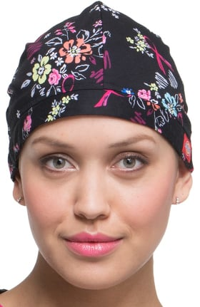 EDS Signature by Dickies Unisex Floral Print Scrub Hat