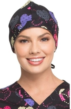 EDS Signature by Dickies Unisex Breast Cancer Awareness Print Scrub Hat