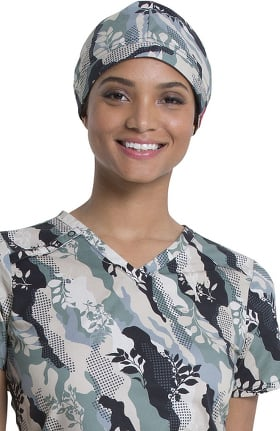 EDS Essentials by Dickies Unisex Nature Camo Print Scrub Hat