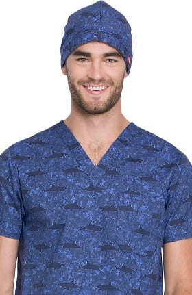 EDS Essentials by Dickies Unisex Shark Print Scrub Hat