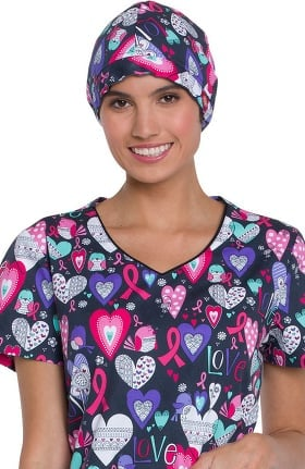 EDS Essentials by Dickies Unisex Heart Print Scrub Hat