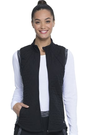 Dynamix by Dickies Women's Quilted Zip Front Scrub Vest