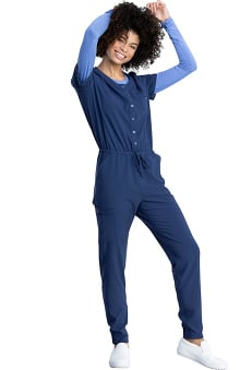 Retro by Dickies Women's Snap Front Scrub Jumpsuit