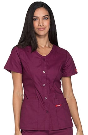 EDS Signature by Dickies Women's V-Neck Solid Scrub Top