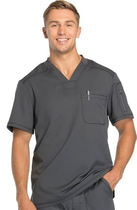Dynamix by Dickies Men's V-Neck Solid Scrub Top