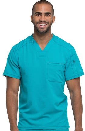 Clearance Dynamix by Dickies Men's V-Neck Solid Scrub Top