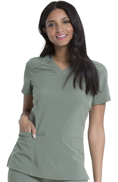 642e40c93a43 EDS Essentials by Dickies Women s V-Neck Solid Scrub Top