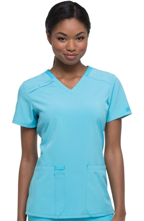 EDS Essentials by Dickies Women's V-Neck Solid Scrub Top