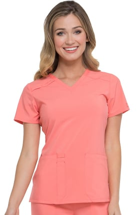 Clearance EDS Essentials by Dickies Women's V-Neck Solid Scrub Top