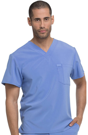 EDS Essentials by Dickies Men's V-Neck Solid Scrub Top