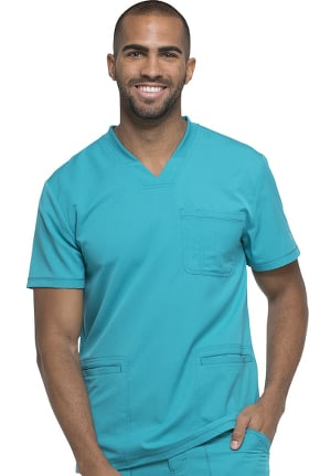Clearance Dynamix by Dickies Men's Connected V-Neck Solid Scrub Top