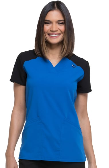 b50dc0c6abd Clearance Xtreme Stretch by Dickies Women's V-Neck Solid Scrub Top ...