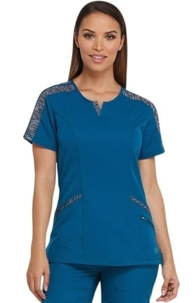 Dynamix by Dickies Women's Shaped V-Neck Solid Scrub Top