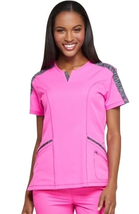 Clearance Dynamix by Dickies Women's Shaped V-Neck Solid Scrub Top