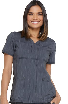 Clearance Advance by Dickies Women's Shaped V-Neck Solid Scrub Top