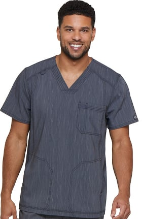 Clearance Advance by Dickies Men's V-Neck 3 Pocket Solid Scrub Top