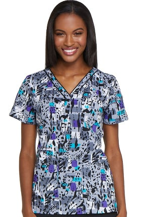 Clearance EDS Signature by Dickies Women's V-Neck Animal Print Scrub Top