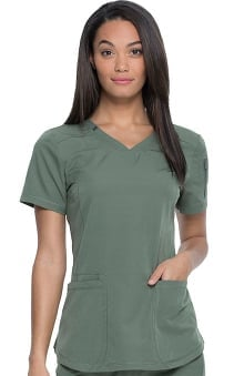 Dynamix by Dickies Women's V-Neck Solid Scrub Top