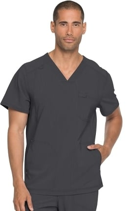 Advance by Dickies Men's V-Neck Solid Scrub Top