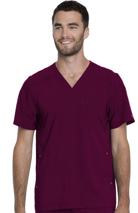 Clearance Advance by Dickies Men's V-Neck Solid Scrub Top
