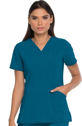 Clearance Advance by Dickies Women's V-Neck Patch Pocket Solid Scrub Top