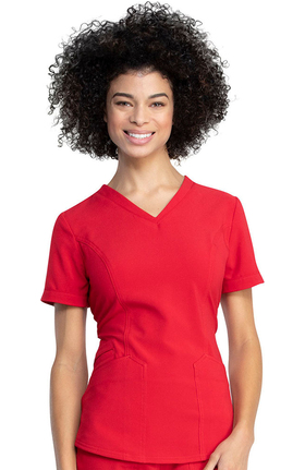 Retro by Dickies Women's V-Neck Solid Scrub Top