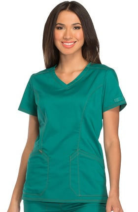 Clearance Essence by Dickies Women's V-Neck Solid Scrub Top