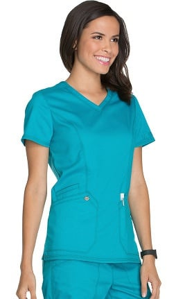 Essence by Dickies Women's V-Neck Solid Scrub Top