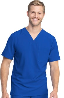 Retro by Dickies Men's V-Neck Solid Scrub Top