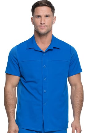Dynamix by Dickies Men's Button Front Polo Shirt