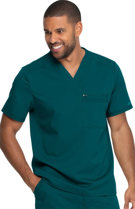 Balance by Dickies Men's V-Neck Solid Scrub Top