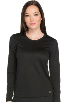 Dynamix by Dickies Women's Long Sleeve Solid Underscrub T-Shirt